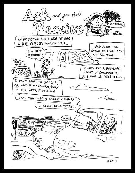 Road Trip Cartoon, p. 1/3