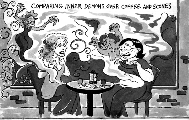 "If you haven't read Lynda Barry's ""100 Demons,"" check it out!"