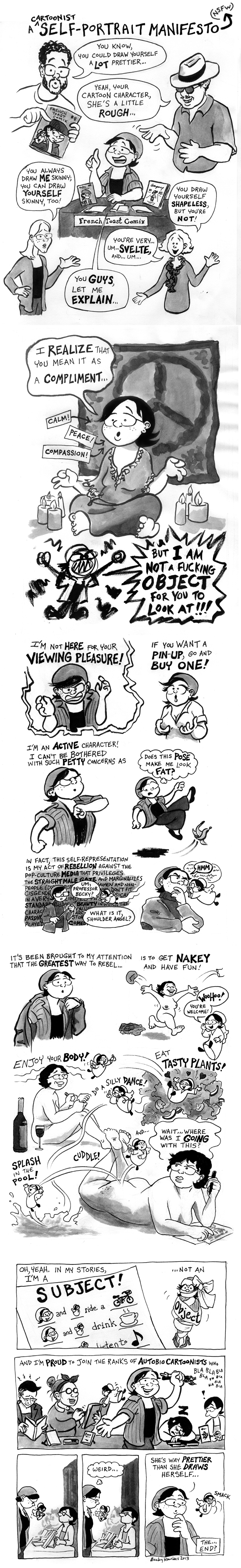A Cartoonist Self-Portrait Manifesto